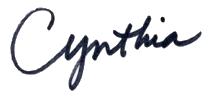 Cynthia signature